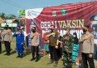 Polres Pesawaran Gelar Vaksinasi Di Pulau Pahawang