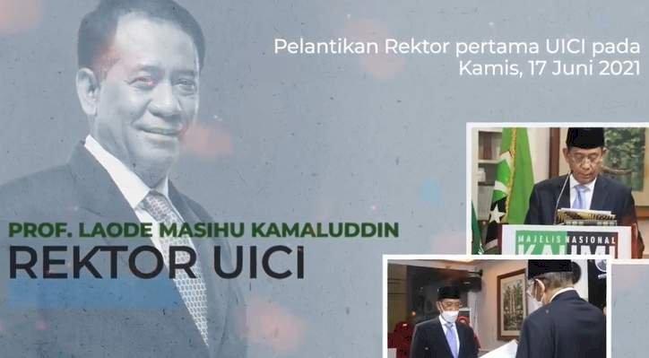 MN KAHMI meresmikan Universitas Insan Cita Indonesia (UICI) dan melantik rektor perdana Prof. Laode Masihu Kamaluddin/Repro